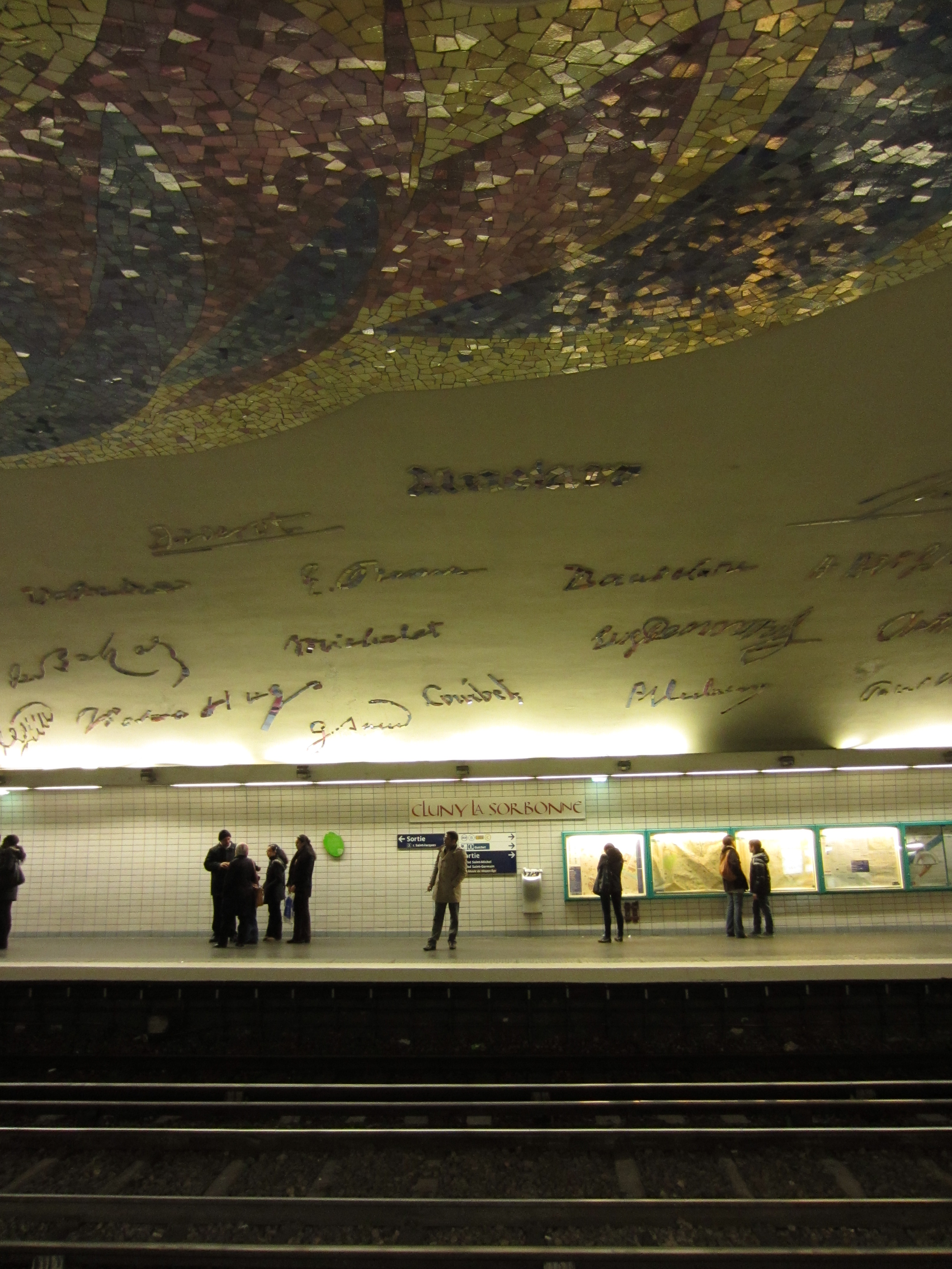 a paris metro with