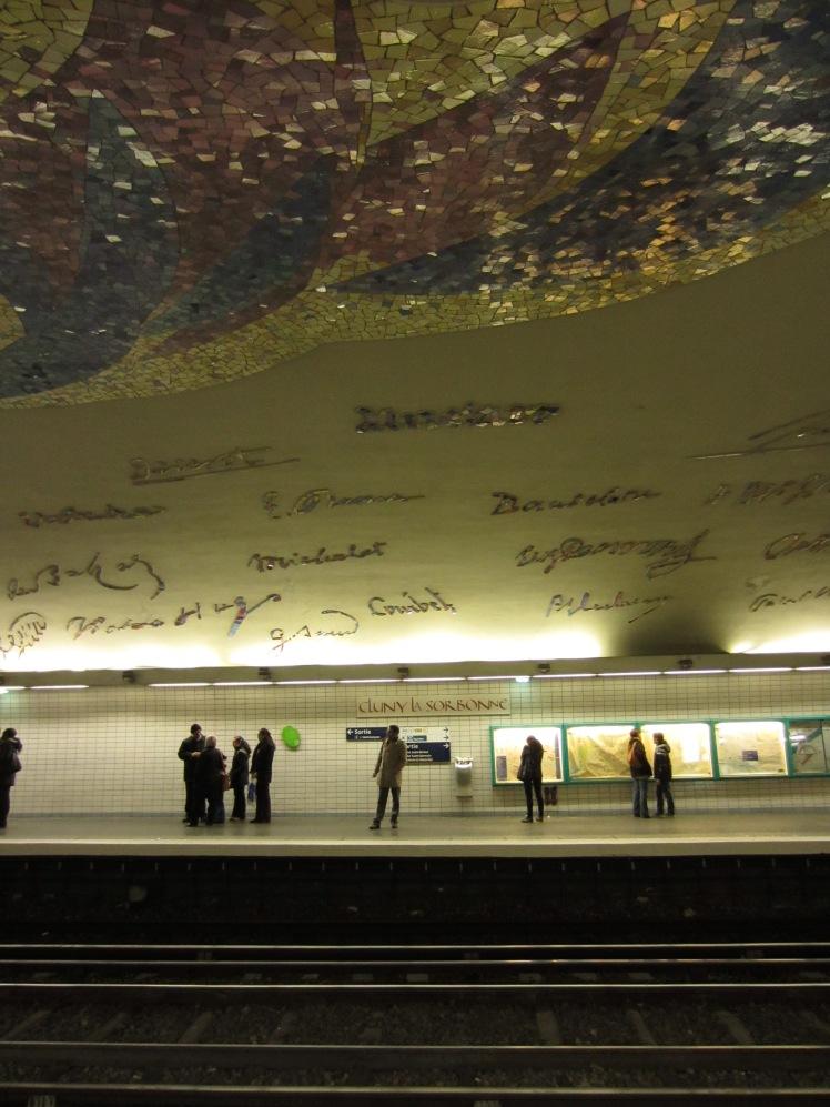 a paris metro with