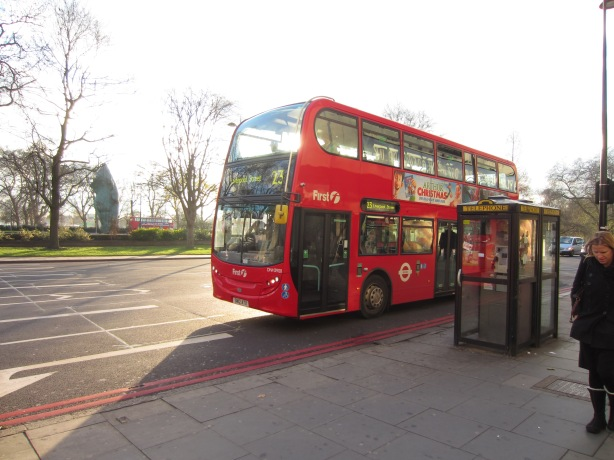 The London red bus. There are so many, they begin to block your photos instead of starring in them