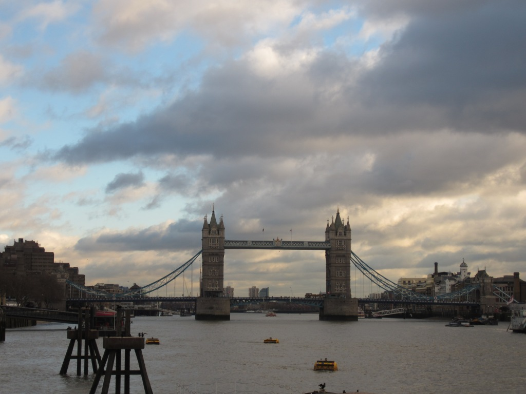 Tower bridge, with some great clouds