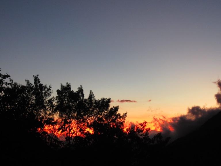 Sunset from San Gerardo de Rivas; sky on fire