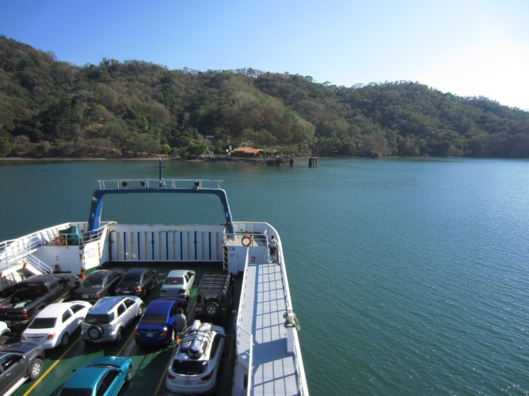The car ferry plying the waters between the Nicoya Peninsula and the mainland