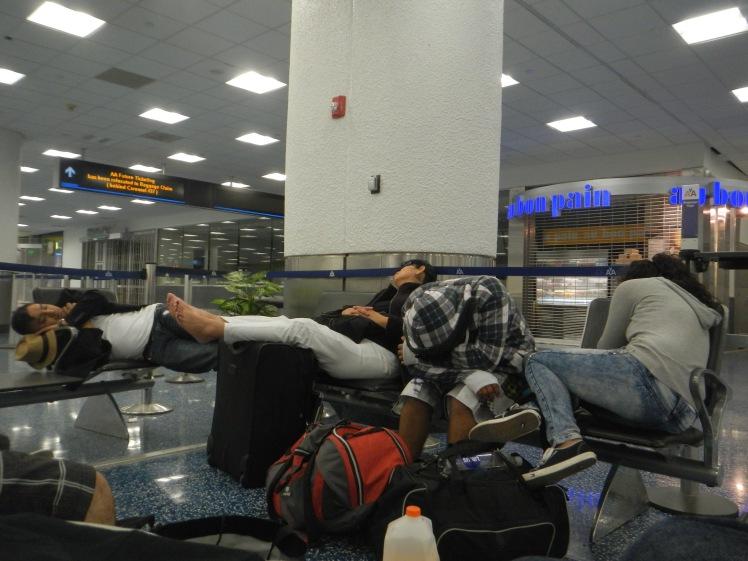 Sleeping in Miami