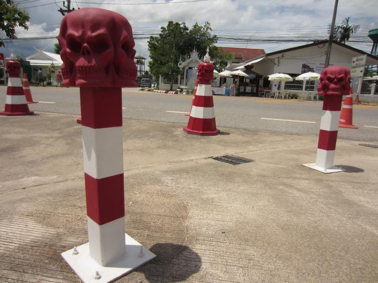 Skull cones, white temple
