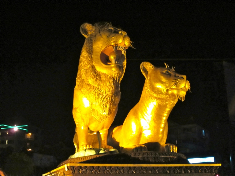 Golden lions and $0.50 beers. Welcome!
