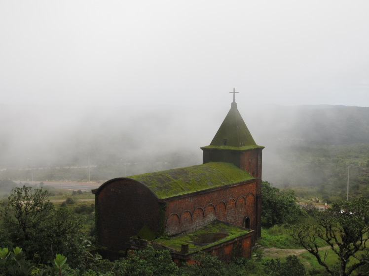 The old catholic church in Bokor National Park