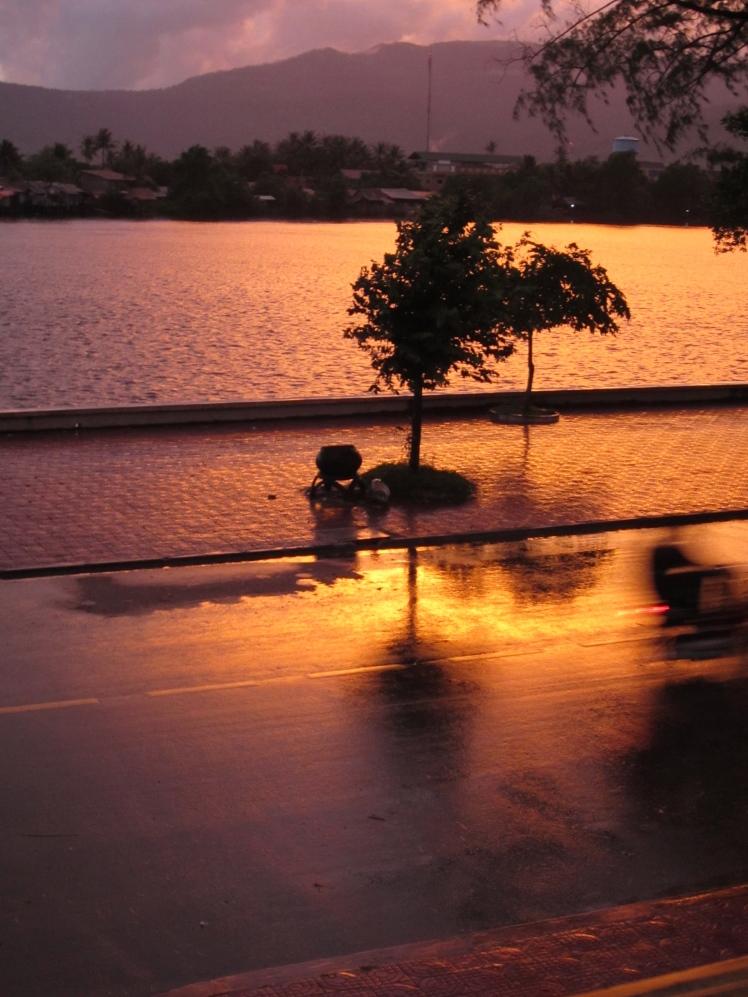 Sunset, Kampot river
