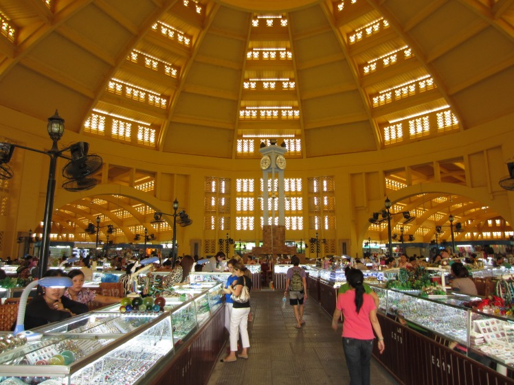 Inside the central market's 'main dome'