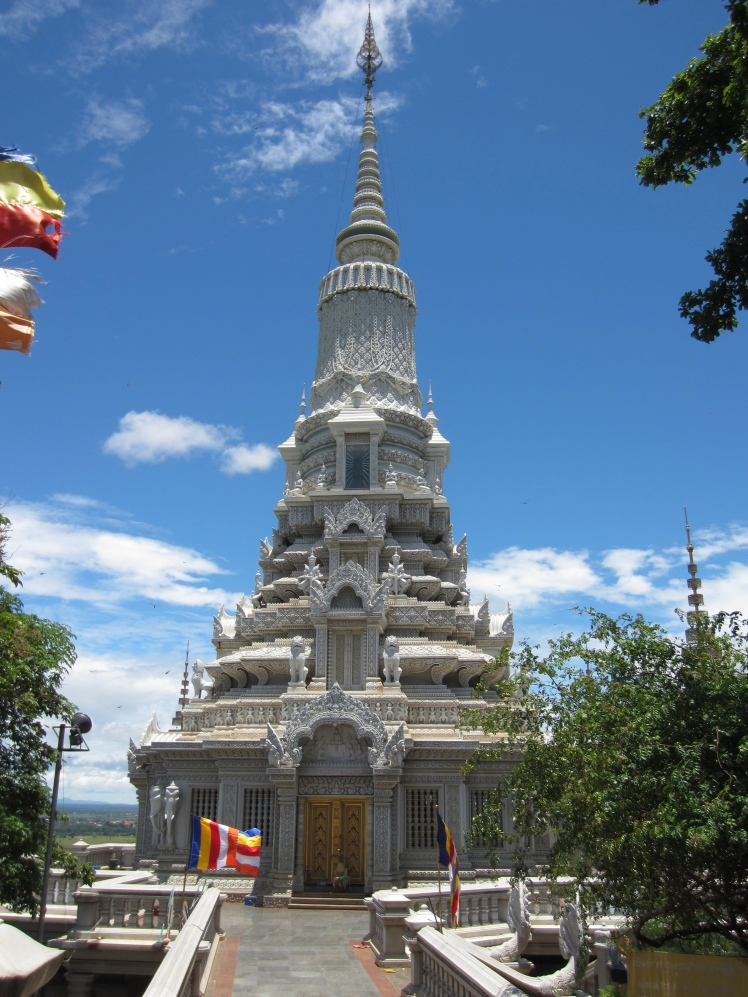One of the four beautiful stupas at Oudong