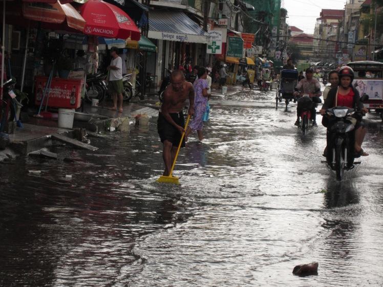 Minor street flooding; no big deal
