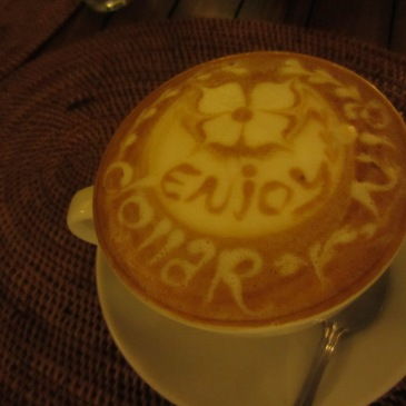 Coffee art signed by the barista