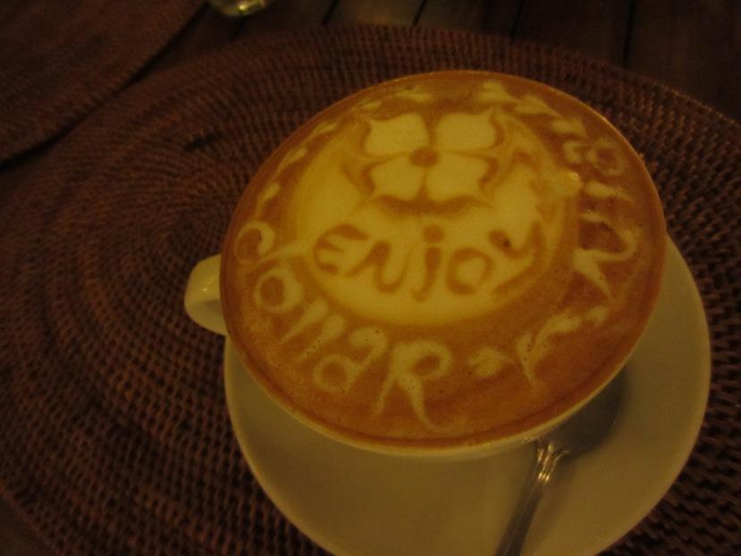 Enjoying Balinese coffee