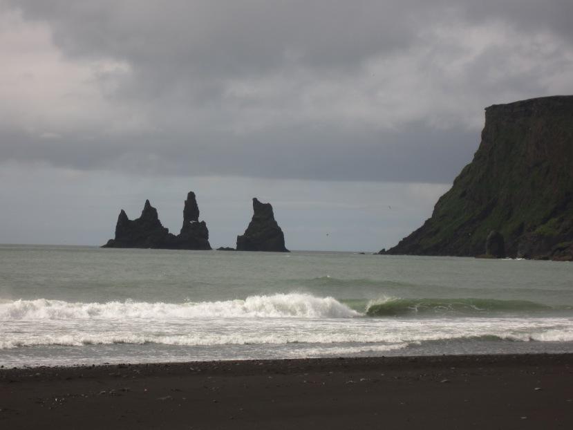 Vik, Iceland's gorgeous black sandbeach