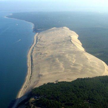 France dune de pilat aerial view Atlantic coast