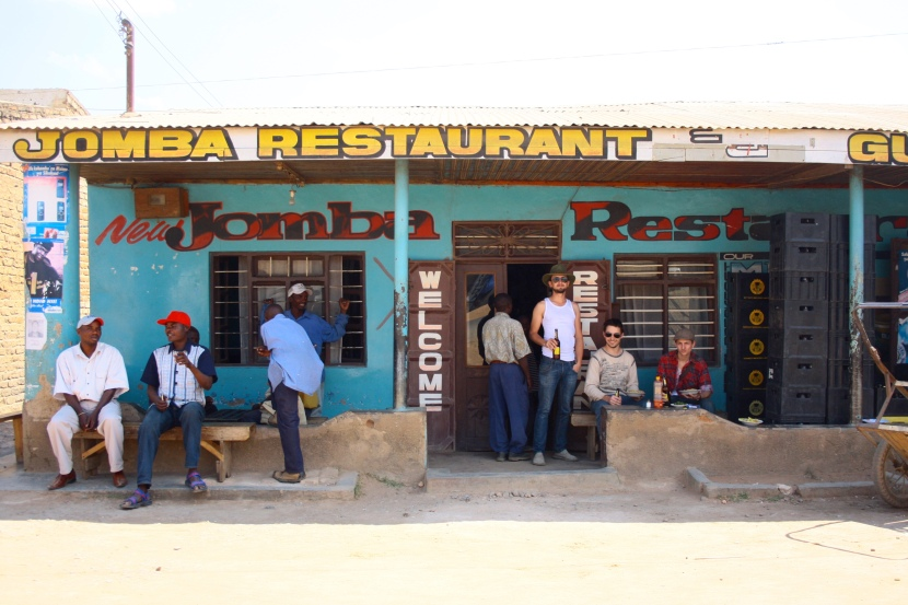 Daring to try truck stop food in Africa