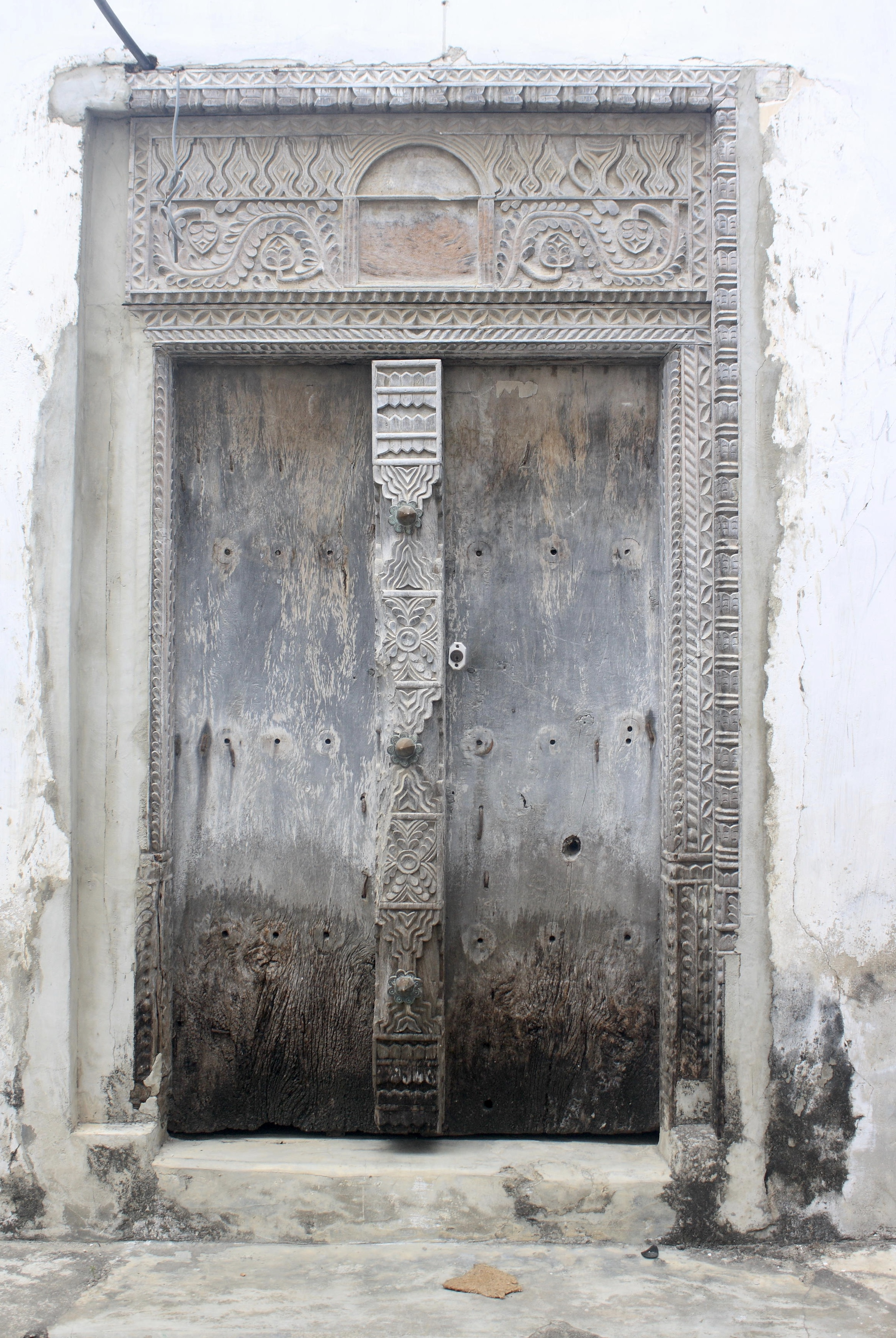An old Zanzibar door with beautiful carvings