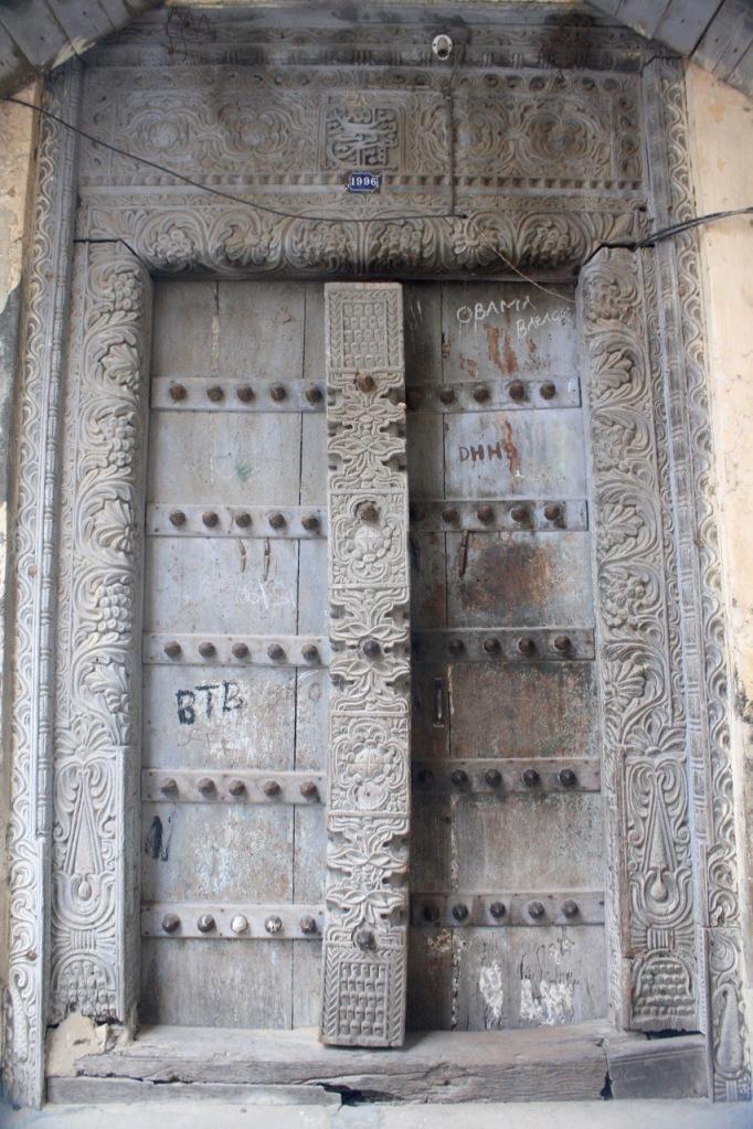 Designs of a Zanzibari door frame