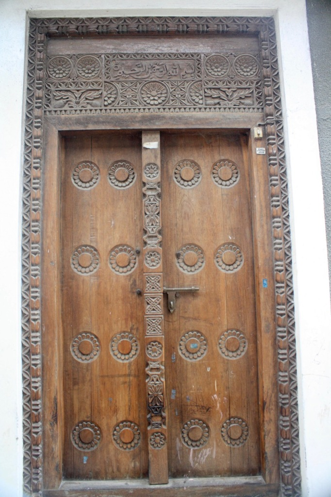 An intricately designed zanzibari door frame