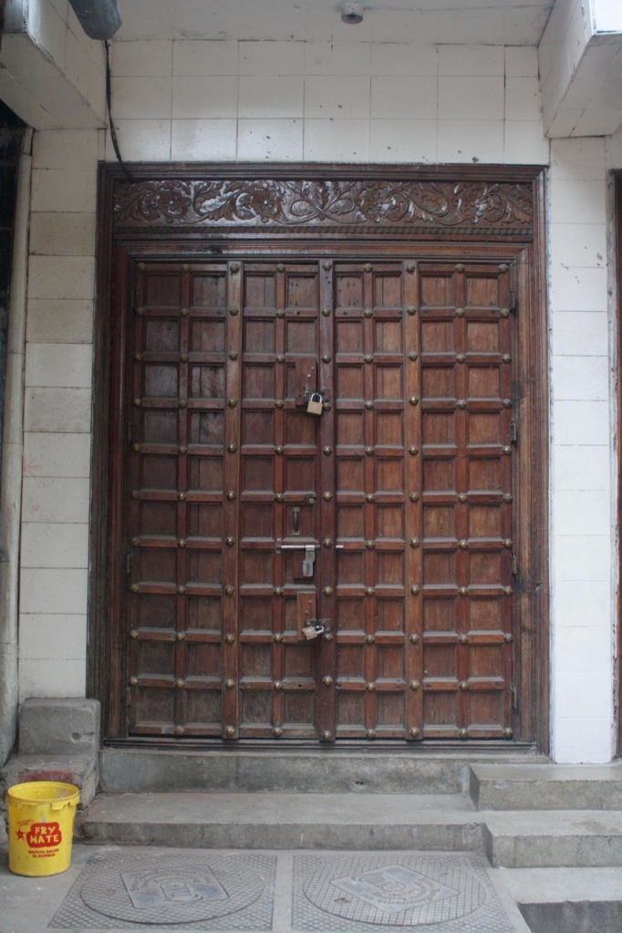A wooden door in Stone Town