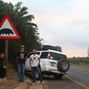A hippopotamus road sign in south africa