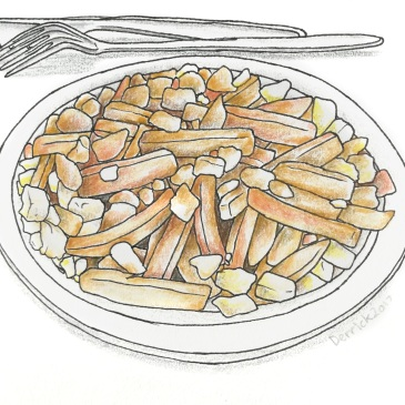 Sketch of a plate of canadian poutine