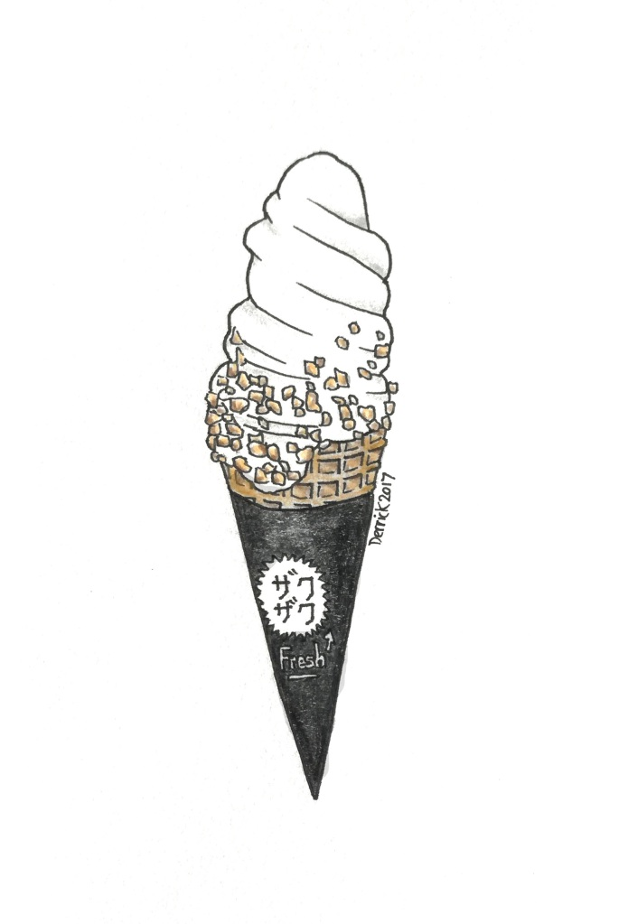 Sketch of a harajuku ice cream cone