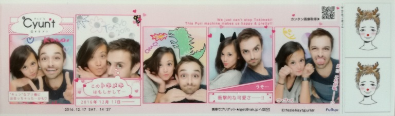 Cute photo booth photos from tokyo