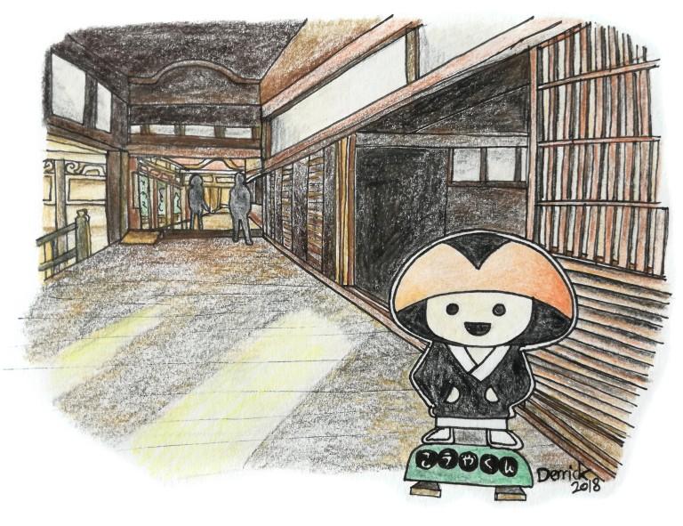 urban sketching Koya-kun koyasan mascot