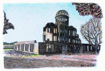 Urban sketching hiroshima peace park