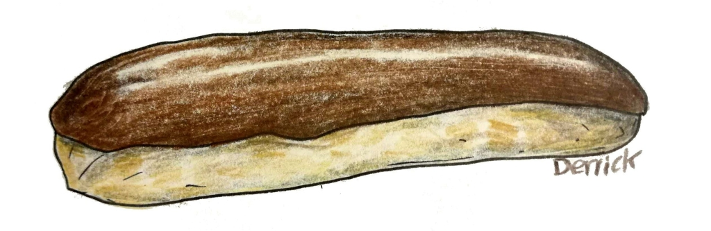 sketch of a chocolate eclair