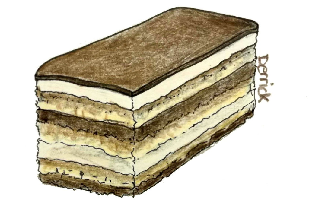 drawing of an opera slice