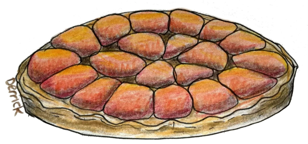 drawing of an upside down cake