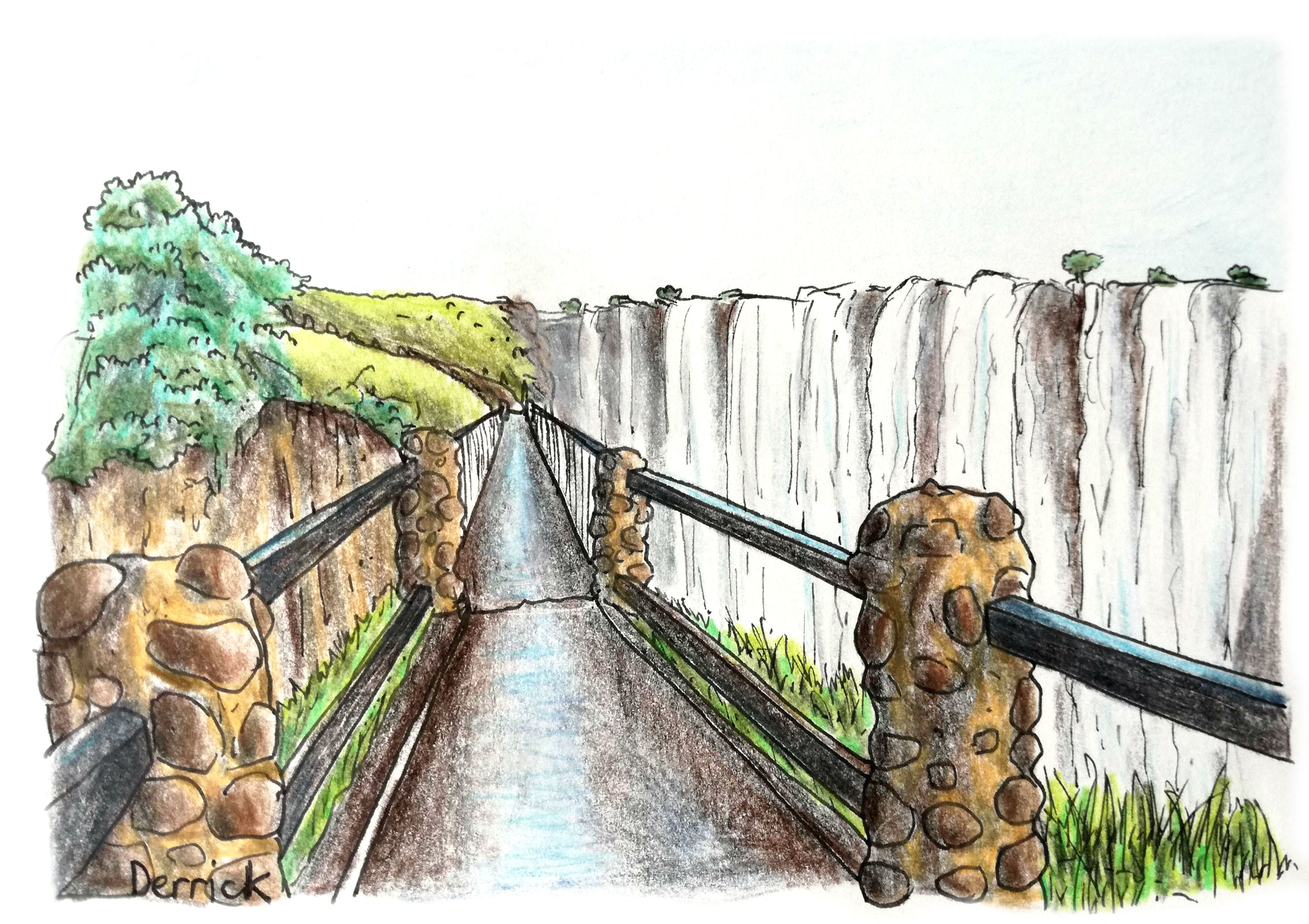 knifes edge bridge at victoria falls