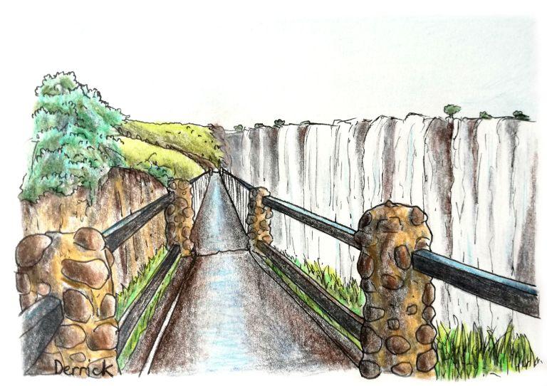 knifes edge bridge at victoria falls