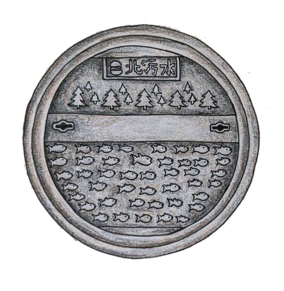Taiwan drain cover in Taipei with beautiful design