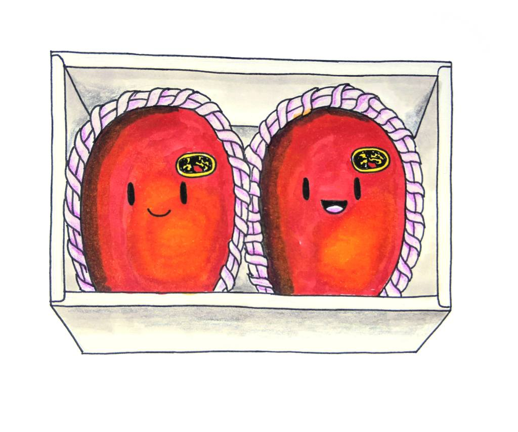 かわいい宮崎マンゴーハッピー日本のマンゴー