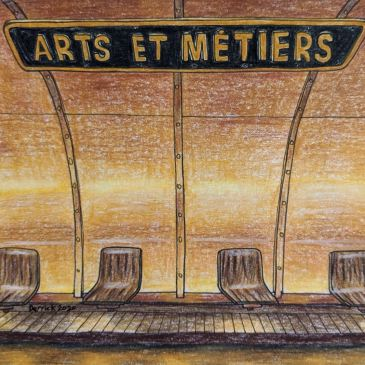 Urban sketching paris metro arts et metiers amazing paris metro stations steampunk