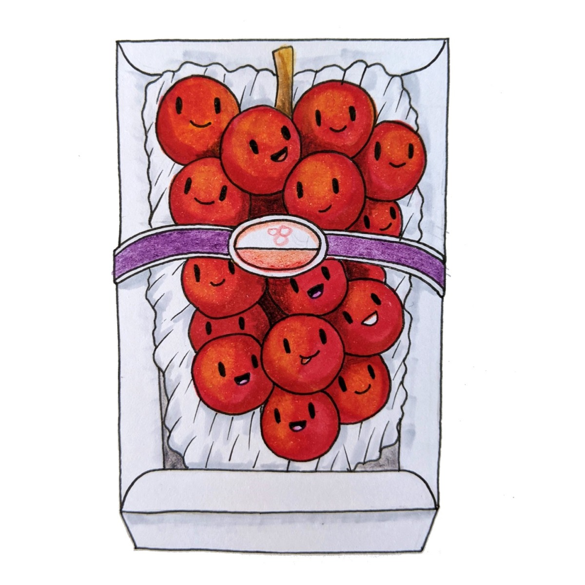 worlds most expensive grapes ruby roman japan drawing