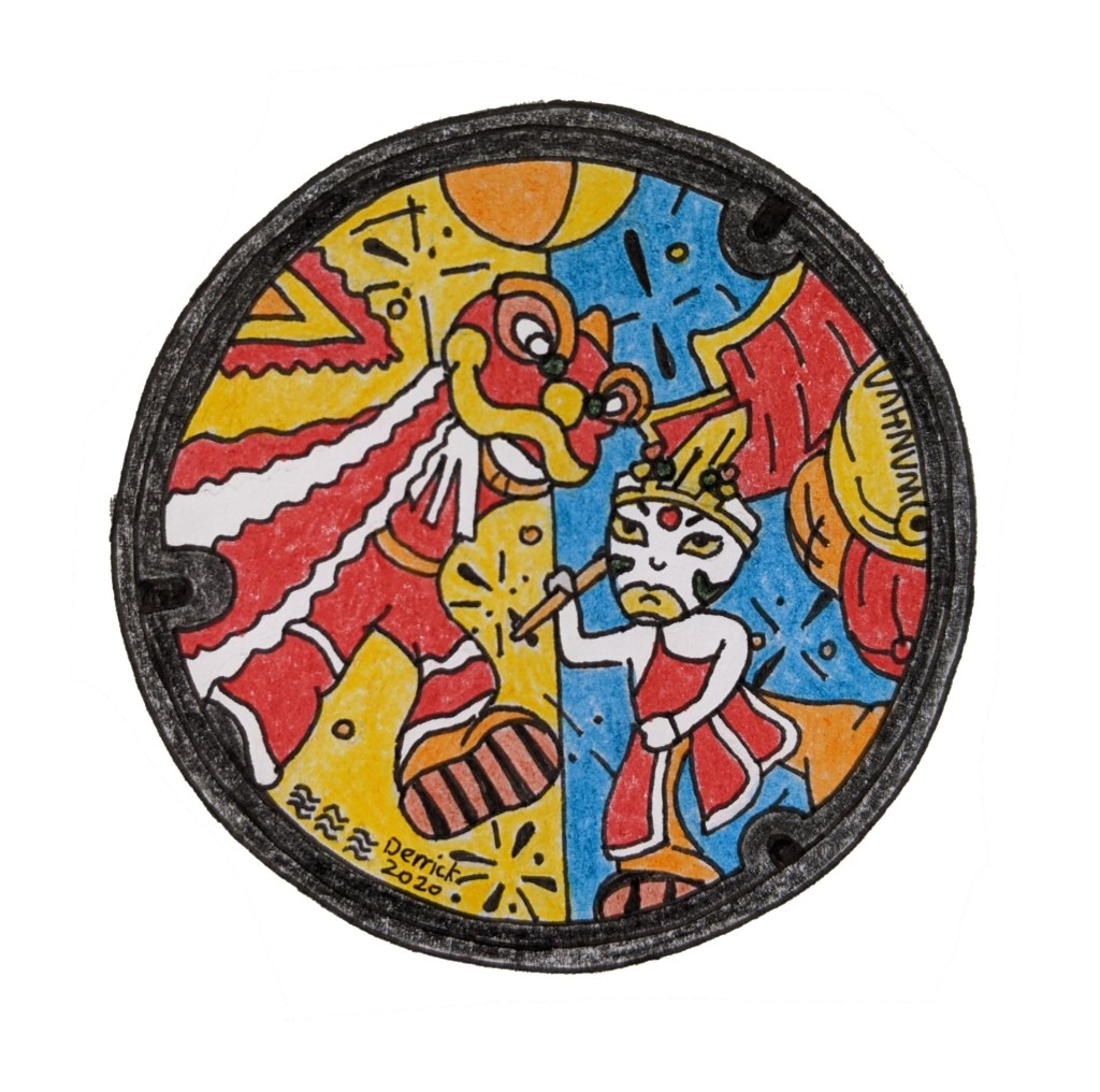 New manhole cover Taiwan Taipei wanhua dragon design