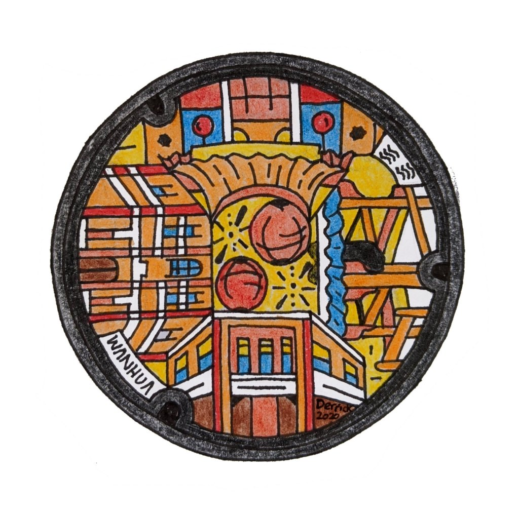 Wanhua manhole cover new design taiwan taipei buildings