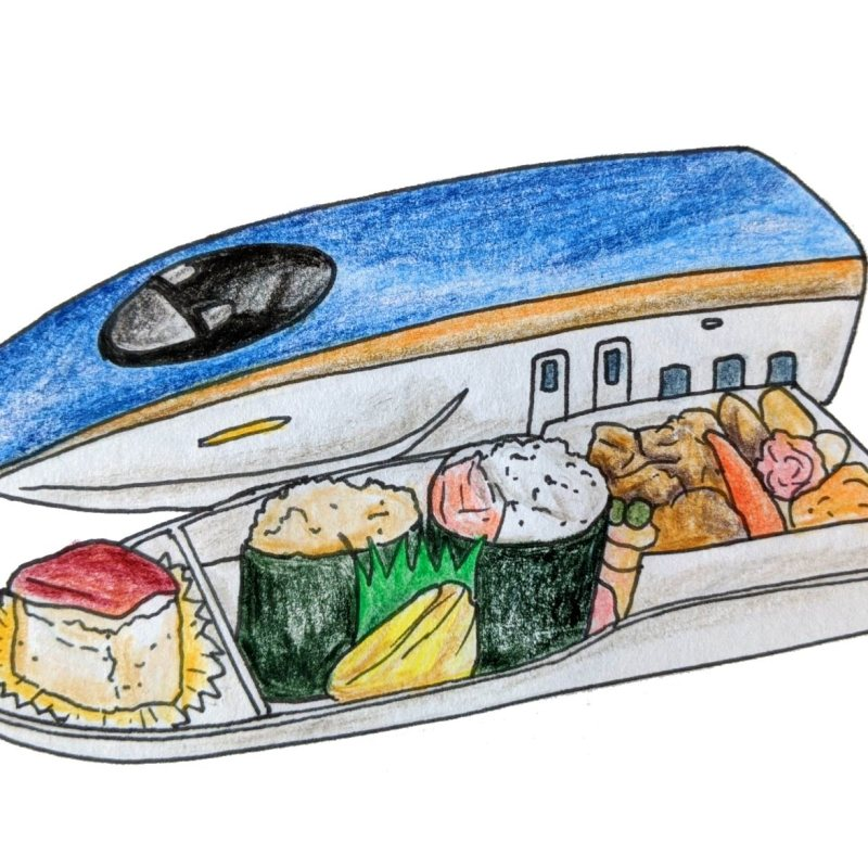 Bento Box sketch Shinkansen kids meal japan