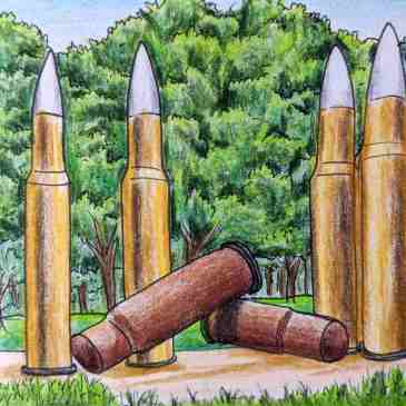 Giant bullet statue Sydney Hyde park war memorial