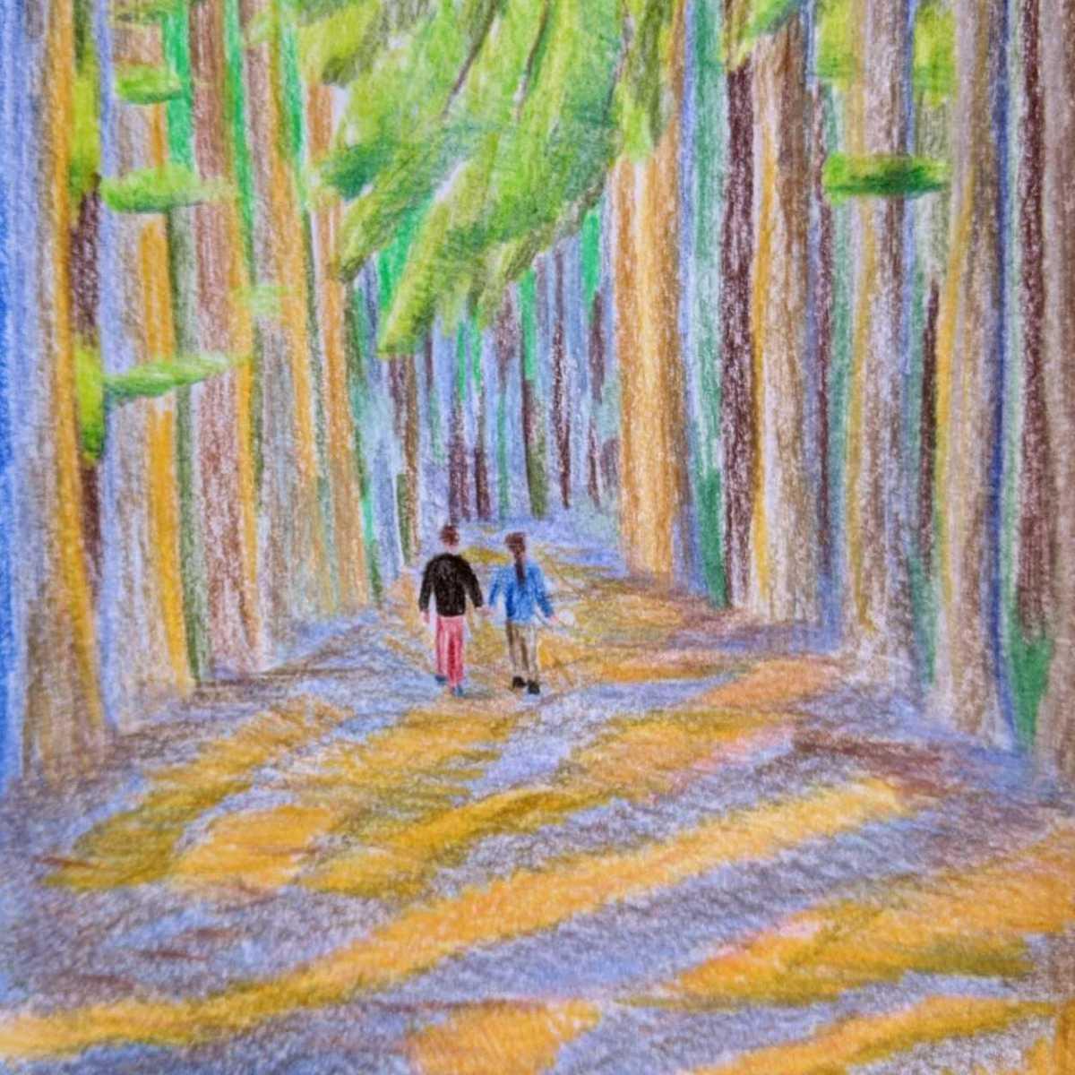 Landscape sketching Belgium peerdsbos forest Antwerp day trip