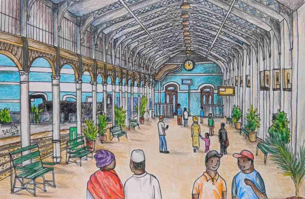 Urban Sketching Mozambique Maputo Central Train Station Platform Gallery