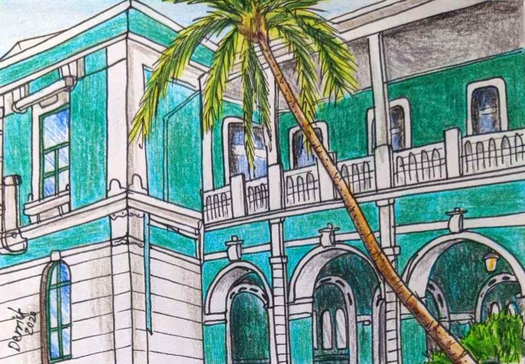 Urban Sketching Mozambique Maputo Central Train Station