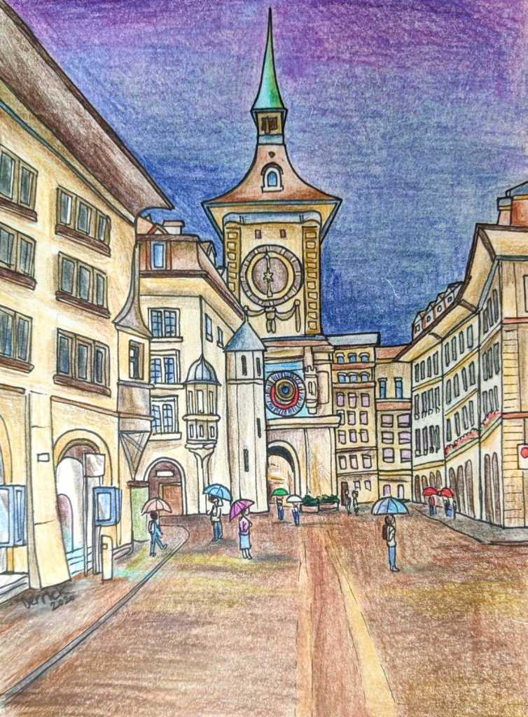 Drawing of Zytglogge Tower Bern