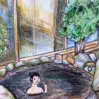 Tokyo's Black Water Onsen - Yumori No Sato