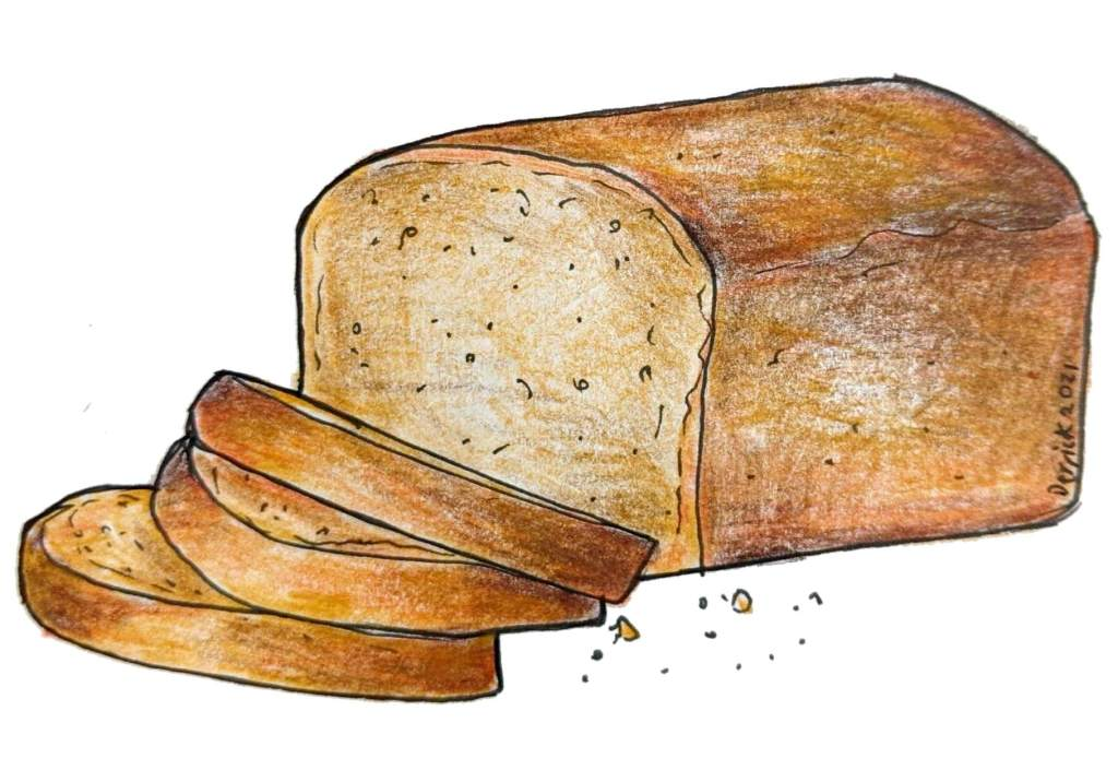 Illustration of traditional pain d'Épice bread cake