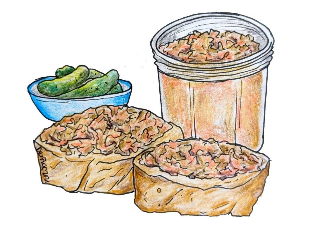 Illustration of Rillettes de porc French pork product