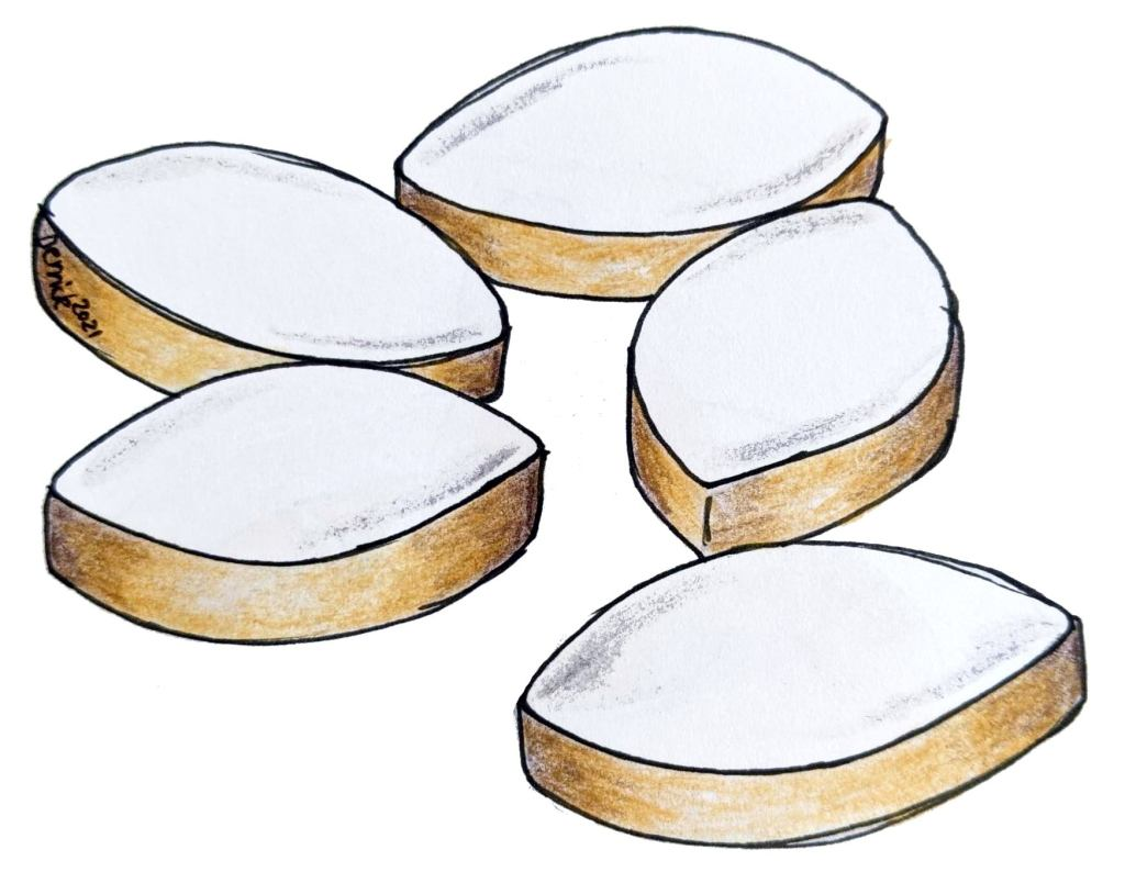 Illustration of calissons french candy from aix en provence france